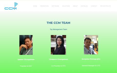 Screenshot of Team Page ccm-systems.com - team - CCM SYSTEMS -THAILAND - captured Sept. 25, 2018