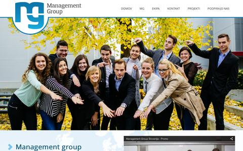 Screenshot of Home Page management-group.si - Management Group - captured Dec. 21, 2015