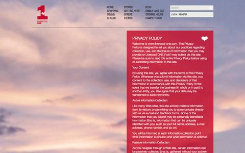 Screenshot of Privacy Page liverpool-one.com - Privacy Policy   Liverpool ONE - captured Sept. 19, 2014