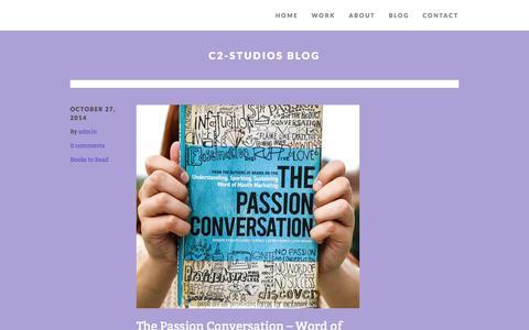 """Screenshot of Blog c2-studios.com - C2-Studios Blog - """"C2-Studios, Inc.""""""""C2-Studios, Inc."""" - captured Nov. 1, 2014"""
