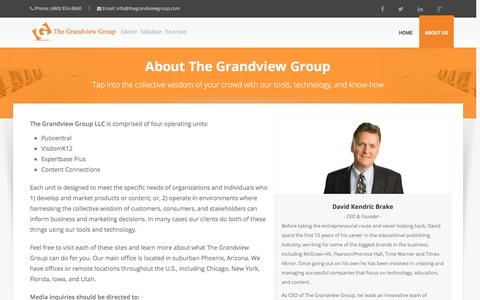 Screenshot of About Page thegrandviewgroup.com - About Us - captured Jan. 12, 2016