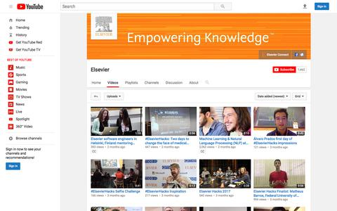 Elsevier  - YouTube