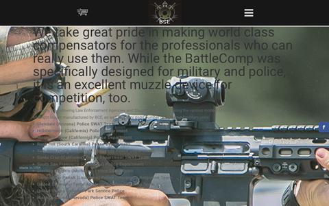Screenshot of Testimonials Page battlecomp.com - Testimonials   Battle Comp Enterprises - captured Oct. 10, 2017