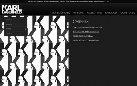 Screenshot of Jobs Page karl.com - Careers - Karl Lagerfeld - captured Sept. 23, 2014
