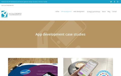 Screenshot of Case Studies Page astutech.co.uk - An app development case study - Learn more about our app development - captured Oct. 4, 2014