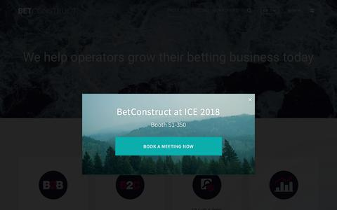 Screenshot of Services Page betconstruct.com - Online Gaming and Sports Betting Services | BetConstruct - captured Dec. 19, 2017