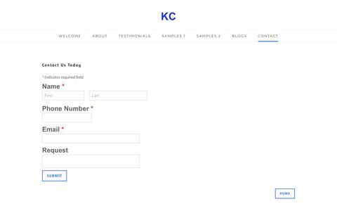 Screenshot of Contact Page klimley.com - Contact - KC - captured Oct. 15, 2018