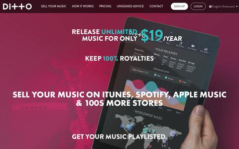 Ditto Music Promotion | Sell Music Online | Music Distribution