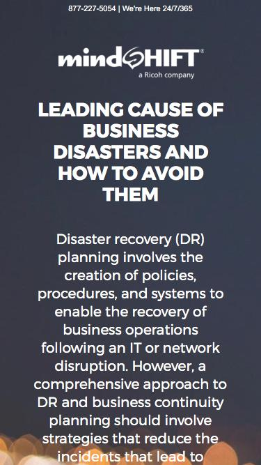 Leading Cause of Business Disasters and How to Avoid Them