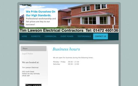 Screenshot of Press Page timlawsonelectrical.co.uk - Local Electrician Grimsby - Tim Lawson Electrical Contractors - captured Oct. 24, 2017