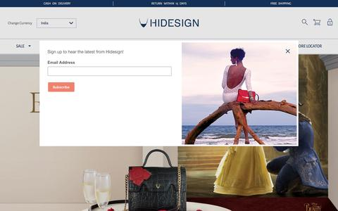 Screenshot of Home Page hidesign.com - Buy Hidesign Leather Handbags Wallets Briefcases Luggage Gifts Online @hidesign.com- Hidesign - Hidesign - captured May 17, 2017