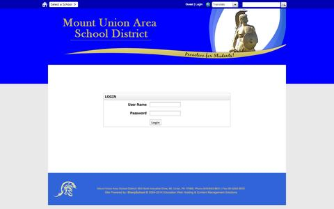 Screenshot of Login Page muasd.org - Login - captured Nov. 5, 2014