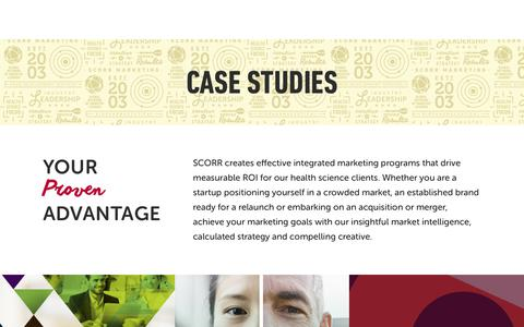 Screenshot of Case Studies Page scorrmarketing.com - Case Studies   SCORR Marketing - captured Aug. 25, 2019