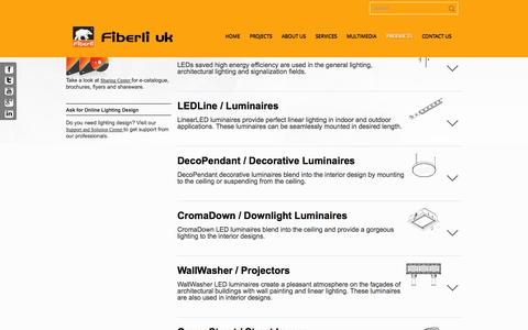 Screenshot of Products Page fiberli.co.uk - Products | Fiberli uk - captured Oct. 5, 2014
