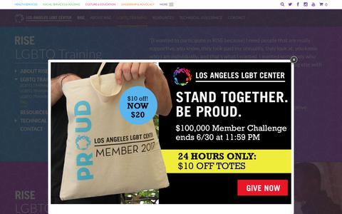 Screenshot of FAQ Page lalgbtcenter.org - FAQ - Los Angeles LGBT Center - captured June 30, 2017