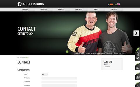 Screenshot of Contact Page internetstores.com - Contact - captured Sept. 19, 2014