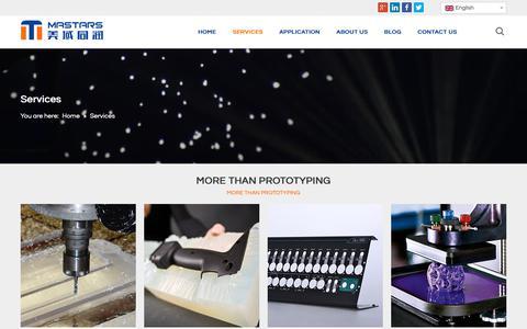 Screenshot of Services Page mastars.com.cn - Services - Mastars Industrial Co., Ltd. - captured Oct. 17, 2018