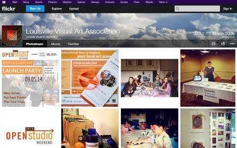 Screenshot of Flickr Page flickr.com - Flickr: Louisville Visual Art Association's Photostream - captured Oct. 22, 2014