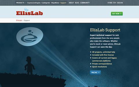 Screenshot of Support Page ellislab.com - Support /EllisLab - captured Sept. 19, 2014
