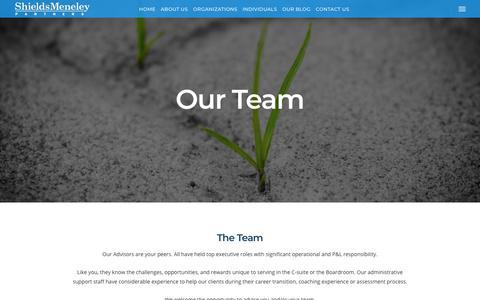 Screenshot of About Page shieldsmeneley.com - About Us - Shields Meneley Partners, LLC - captured Nov. 19, 2018
