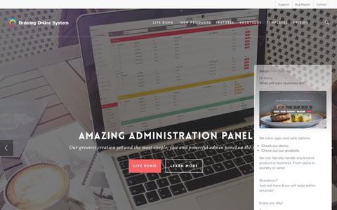 Screenshot of Home Page orderingonlinesystem.com - Food Delivery Script - Online Food Ordering Software- Ordering Online System - captured Dec. 1, 2016