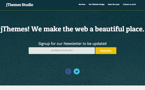 Screenshot of Home Page jakjim.com - jThemes Studio: Premium Responsive Themes for WordPress - captured Sept. 24, 2014