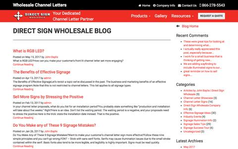 Screenshot of Blog directsignwholesale.com - Direct Sign Wholesale Blog | Direct Sign Wholesale - captured June 4, 2017