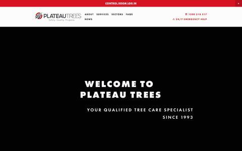 Screenshot of Home Page plateautrees.com.au - PLATEAU TREES - captured July 9, 2019