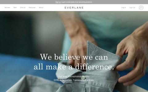 Our Mission | Everlane