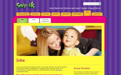 Screenshot of Jobs Page snipits.com - Jobs » Snip-its - captured Sept. 19, 2014