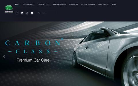 Screenshot of Home Page jewelultra.com - Diamondbrite Professionally Applied Paint & Fabric Protection - captured Sept. 30, 2018