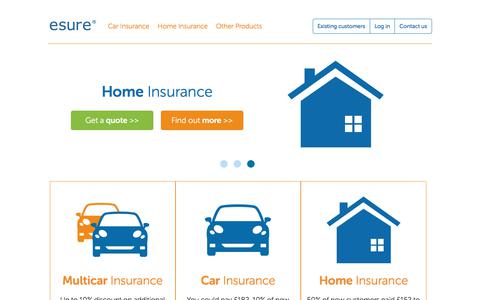 screenshot of home page esurecom esure car multi car home