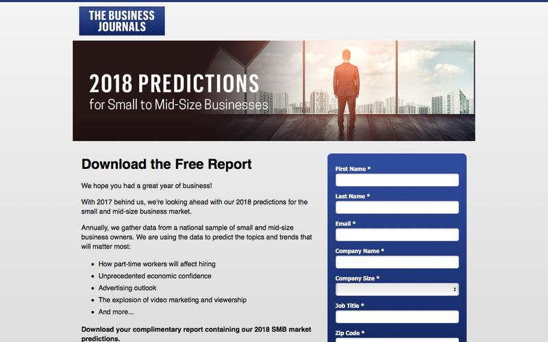 2018 Small and Mid-size Business Market Predictions