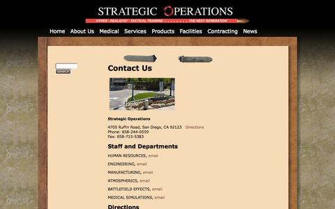 Screenshot of Contact Page strategic-operations.com - Contact Us | Strategic Operations - captured Oct. 7, 2014