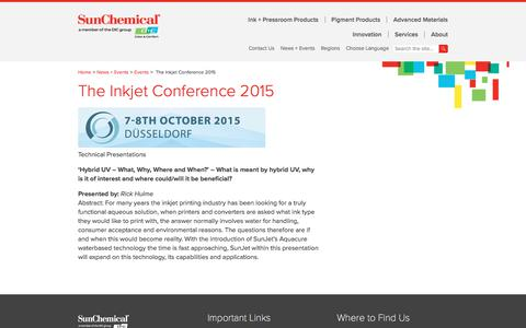 The Inkjet Conference 2015
