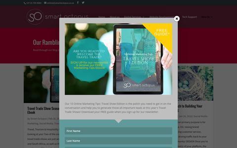 Screenshot of Blog smartoctopus.co.za - Social Media for Travel Trade - Blog - captured Feb. 27, 2016