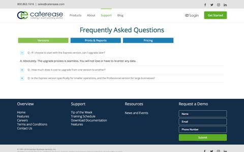 Some FAQ's on catering software | Caterease