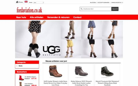 Screenshot of Home Page fordaviation.co.uk - Cheap boots sale Shop UK|fordaviation.co.uk - captured June 6, 2017