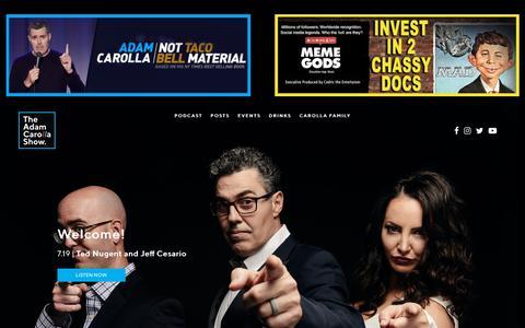 Screenshot of Home Page adamcarolla.com - The Adam Carolla Show - A Free Daily Comedy Podcast from Adam Carolla | The Adam Carolla Show - A Free Daily Comedy Podcast from Adam Carolla - captured July 20, 2019