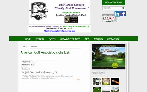 Screenshot of Jobs Page my-aga.org - American Golf Association Job Listings for American Golf Association - employment opportunities and Job openings List American Golf Association - captured Oct. 4, 2014