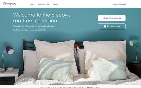 Screenshot of Home Page sleepys.com - Sleepys - Sleepys Beds - captured Jan. 8, 2020