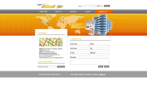 Screenshot of Contact Page sikaigroup.com - Contact us - captured Oct. 26, 2014