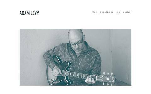 Screenshot of Home Page adamlevy.com - Adam Levy - captured April 3, 2017