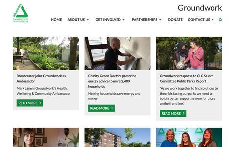 Screenshot of Press Page groundwork.org.uk - Groundwork   News   Groundwork news - captured March 10, 2017