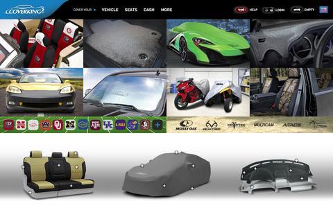 Screenshot of Home Page coverking.com - Custom Car Covers | Custom Seat Covers | Dash Covers | Car and Truck Floor Mats - Coverking® - captured Oct. 15, 2016