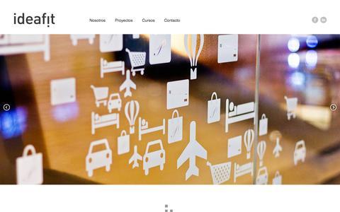 Screenshot of Home Page ideafit.com.mx - IDEAFIT - captured Jan. 24, 2015