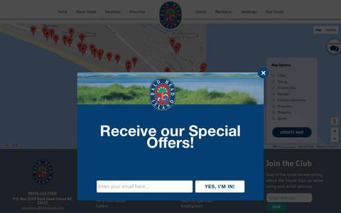 Screenshot of Maps & Directions Page baldheadisland.com - Bald Head Island Map - captured June 23, 2017