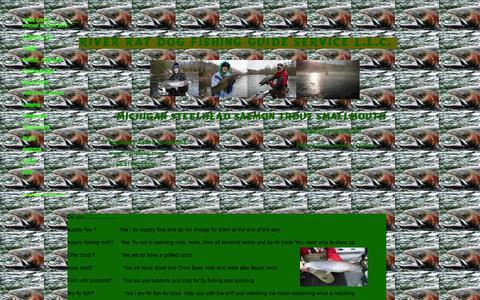 Screenshot of FAQ Page riverratdog.com - Steelhead  fishing guide Michigan fiy fishing trout salmon fishing - captured Oct. 26, 2014