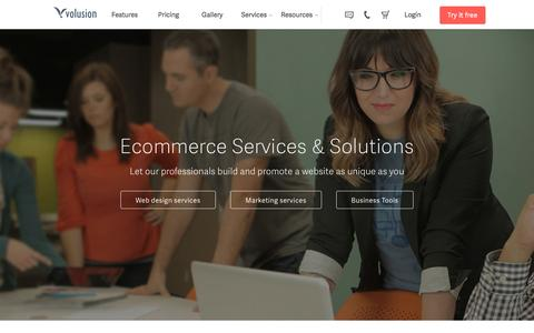 Screenshot of Services Page volusion.com - E-commerce Services & Solutions for your online store | Volusion - captured March 24, 2016