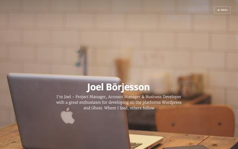 Screenshot of Home Page bjoel.se - Joel Börjesson - captured Feb. 8, 2016